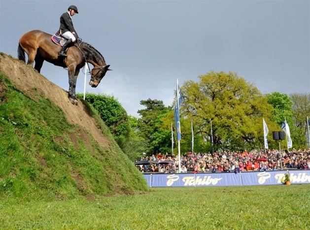 Zawody jeździeckie w Hamburgu. Jur Vrieling z Holandii na koniu Wonderboy (fot. EPA/ANGELIKA WARMUTH/PAP)