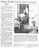 Newspaper coverage of the damage from Hurricane Bonnie.