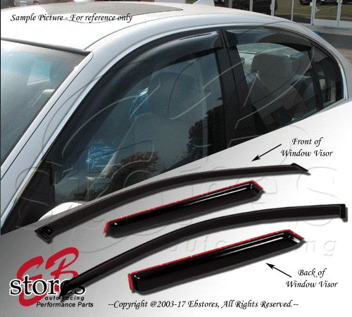 cool Awesome 4pcs Window Visor VW Volkswagen Jetta 2006 2007 2008 2009 2010 2.5L Sedan 2018