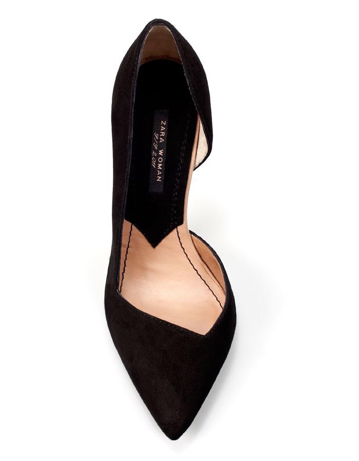 Asymmetric court shoe from Zara
