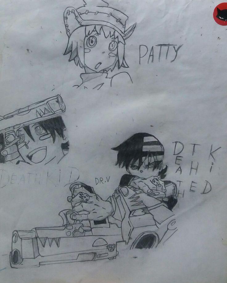 Dibujo antiguo: Patricia Thompson y Death the Kid.