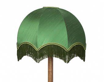 Larch Green Silk Tiffany Lampshade 20 Traditional Floor Lamp Shade Handmade Dome Tassel Lamp S Rustic Lamp Shades Floor Lamp Shades Square Lamp Shades