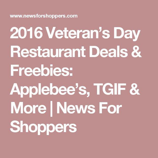 2016 Veteran's Day Restaurant Deals & Freebies: Applebee's, TGIF & More   News For Shoppers