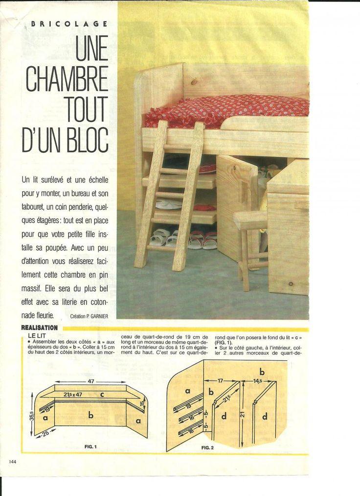 """PAR AMOUR DES POUPEES :: M&T 1986- ? """"Chambre tout d'un bloc"""" pour Marie-Françoise"""
