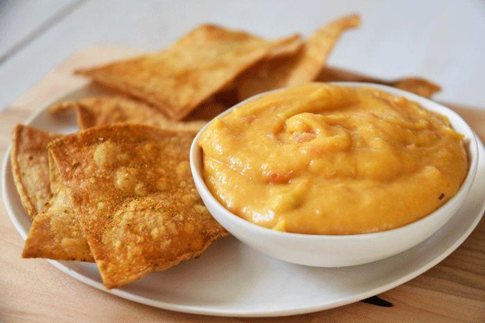 Veggie Queso + Homemade Doritos — Nikki Dinki Cooking