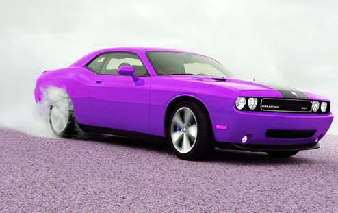 Purple Dodge Challenger...Someone had mustang on this as the caption...Someone felt the need to correct me thinking I captioned this when I did not....I don't change the captions folks, I just pin em...This was the first time..