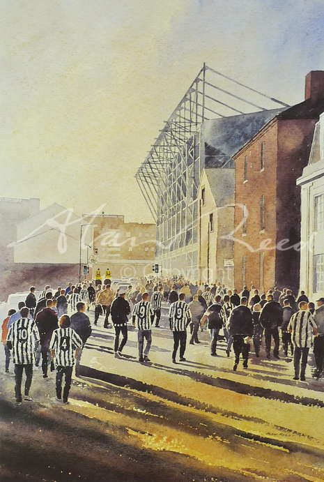 Toon Army, Newcastle NUFC Signed limited edition of 450 Image size: 280 x 415 mm This painting of Newcastle united football fans going to ...