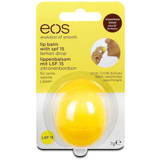 eos Lippenbalsam mit LSF 15 Zitronenbonbon, Geschmack: Zitronenbonbon, Lippenpflege bei dm drogerie markt.