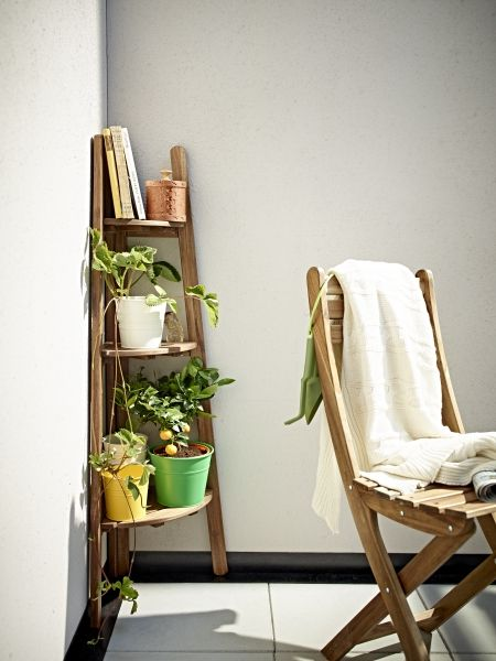 Bring out your botanical side. This corner space saving plant stand from IKEA can help create a garden even in the smallest outdoor spaces.