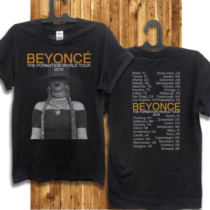 Beyonce The Formation World Tour 2016 T Shirt Size s M L XL | eBay