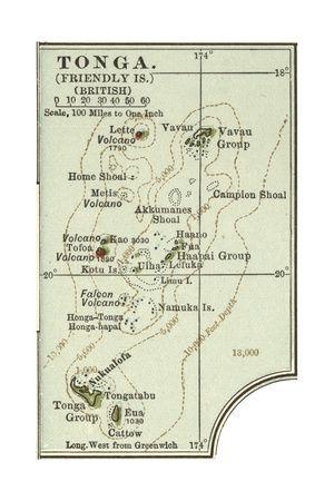 Map of Tonga.