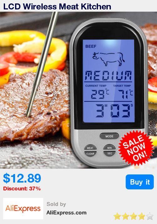 LCD Wireless Meat Kitchen Thermometer BBQ Thermometer Grill Kitchen Oven Thermometers Roasting Thermometers Automatic Digital  * Pub Date: 19:25 Apr 3 2017