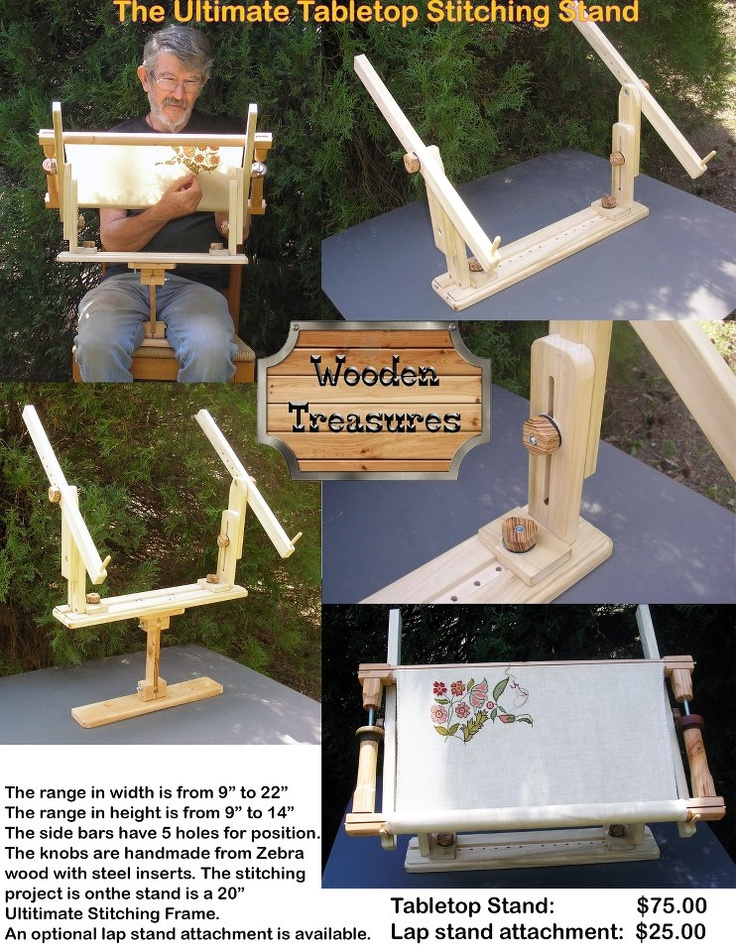 Ultimate Table Top Stitching Stand By Wooden Treasures