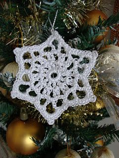 pretty snowflake star the design is on the blog