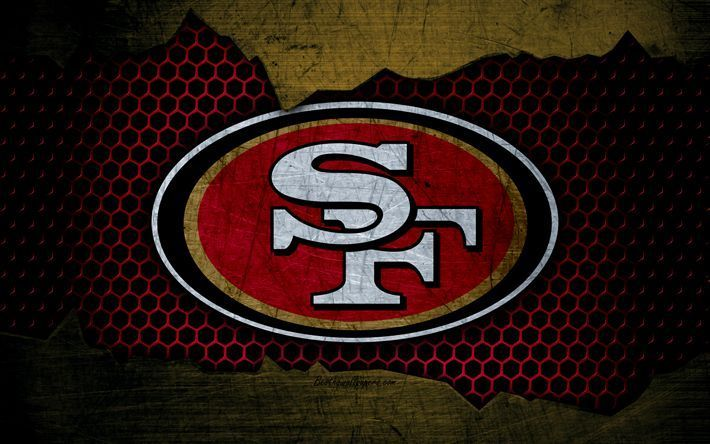 Download Wallpapers San Francisco 49ers 4k Logo Nfl American Football Nfc 49ers San Francisco 49ers American Football 49ers