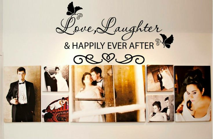 Love Laughter & Happily Ever After Vinyl Wall Decal $20.00 Available to order in all colours Width: 56cm Height: 25cm