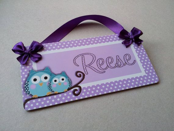 owl bedroom decor light purple and teal owls in a by kasefazem, $16.99
