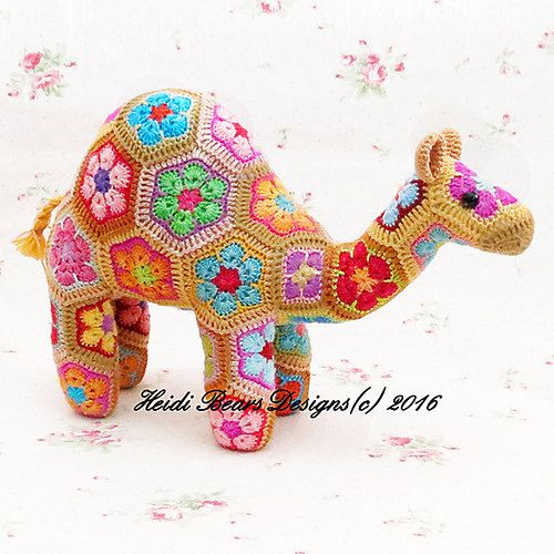 African Flower Camel by TalbotSquared on Etsy