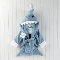 Let The Fin Begin Shark Baby RobeTerry O'Neil, Baby Aspen, Sharks Robe, Terry Sharks, Baby Boys, Kids, Bath Robe, Shower Gift, End