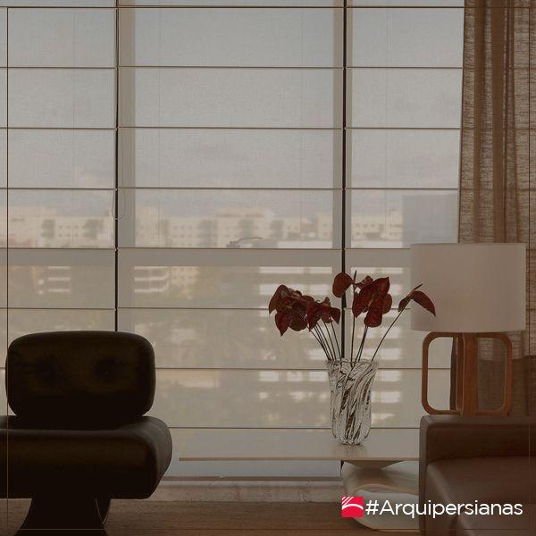 Una #CortinaRomana permite graduar la intensidad de la luz, da privacidad y protege los muebles y pisos. #ArquiPersianas #DecoraTuEspacio