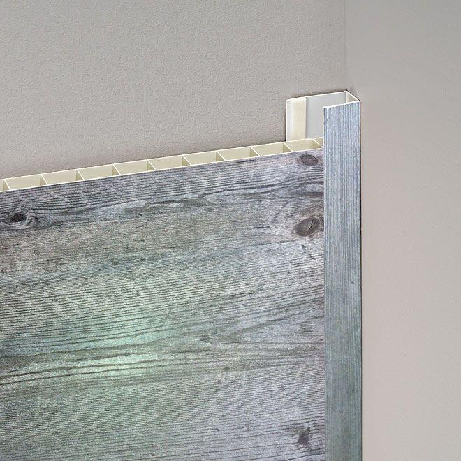Moulure pour panneau mural style pin antique rona - Panneau d habillage mural ...
