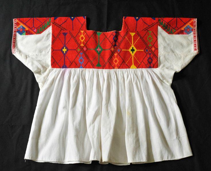 Mexican Blouse Nahua Veracruz (Teyacapan) Tags: mexico clothing crossstitch embroidery mexican textiles veracruz ropa blouses blusas nahua chicontepec