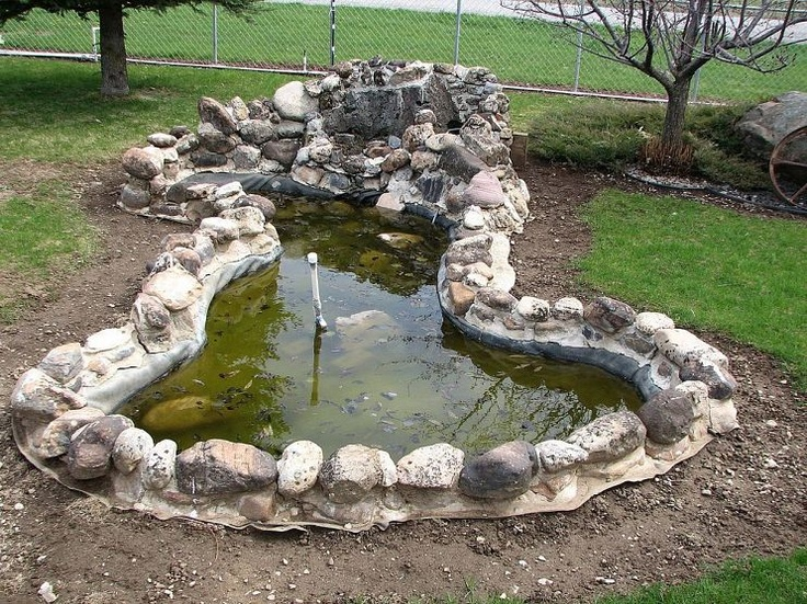 15 best images about pond ideas on pinterest gardens for Front yard pond ideas