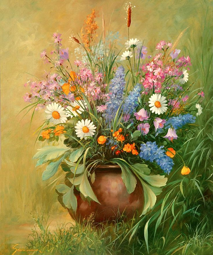 букеты цветов в картинах художников готовила торт медовик