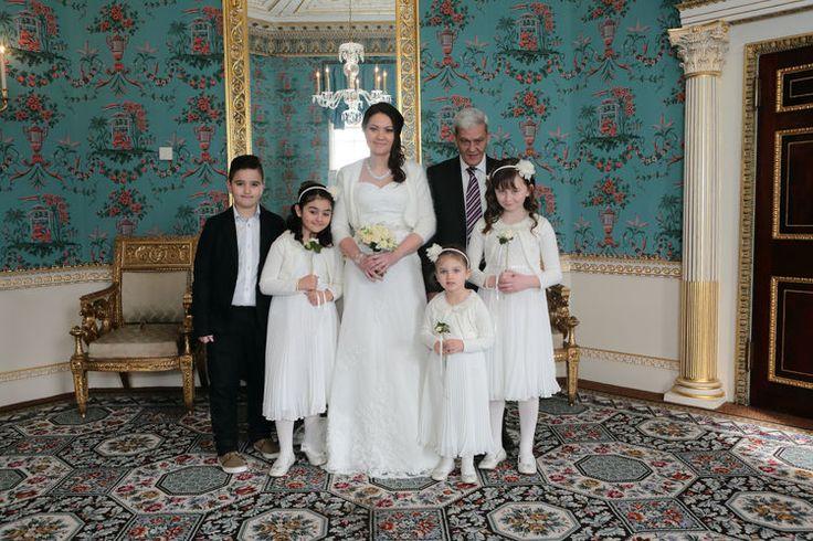 Bride and bridesmainds photograph at Danson House