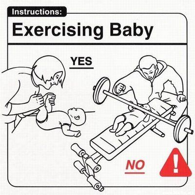 Baby ain't quite ready for the barbells just yet.