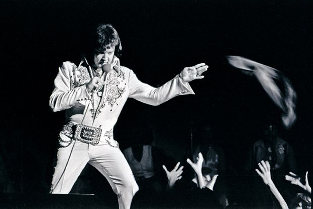 In 1977, Elvis embarked on an ambitious tour of the United States, including spring dates in Amarillo, Abilene, and Austin (shown here). (Photo © Ave Bonar)
