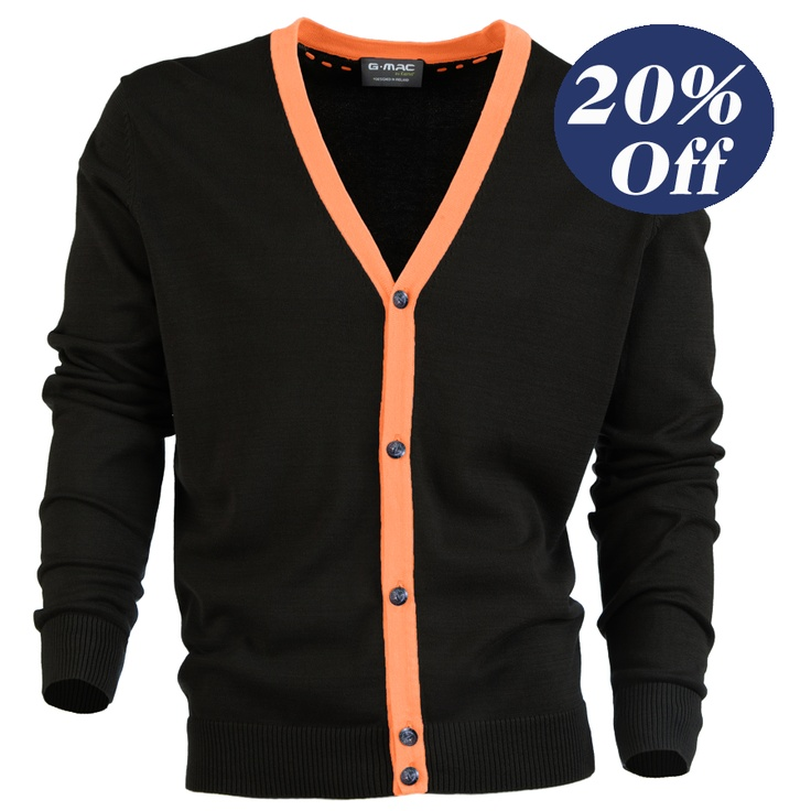 was $120, now $96  McCardy, Stylish 5 button cardigan with contrast colour.