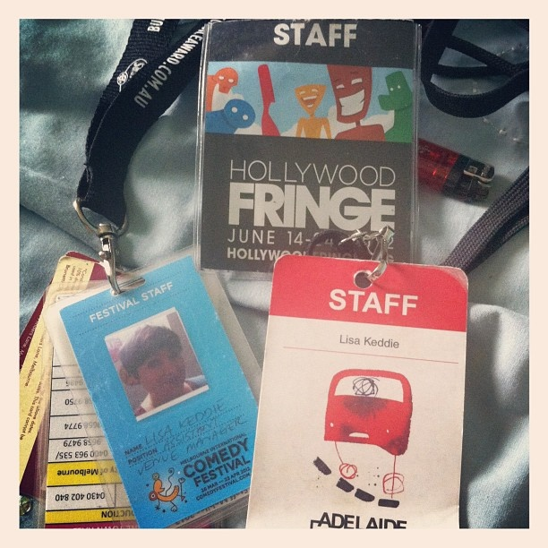 "@lisatomkeddie's photo: ""Tidying away this years lanyards #adlfringe #micf #hff12"""