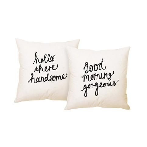 Hello There Handsome and Good Morning Gorgeous | Cushion Cover Set