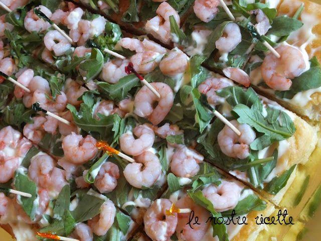 Le nostre Ricette: Torta salata, maionese, rucola e gamberetti