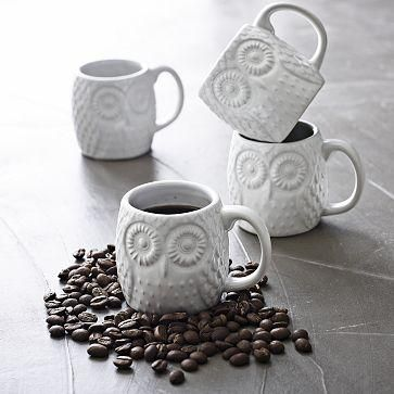 Owl Espresso Mugs: Westelm, Owl Espresso, Memorial Cups, Espresso Cups, Measuring Cups, Owl Mugs, Coffee Mugs, West Elm, Kitchens Theme