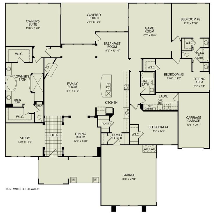 59 best images about houseplans on pinterest acadian for Custom ranch floor plans