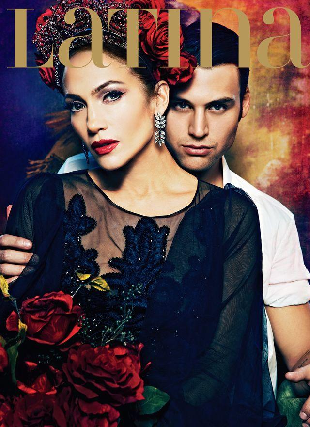 Jennifer Lopez and Ryan Guzman on Latina Magazine's February 2015 Cover - The Boy Next Door Movie