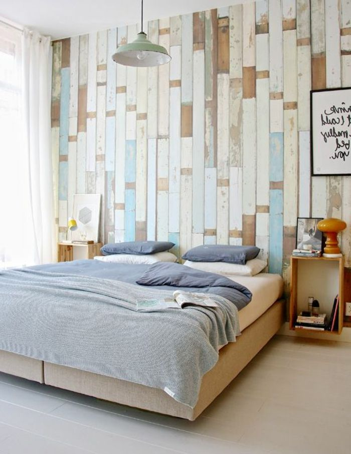 1000 ideas about tapeten schlafzimmer on pinterest for Wood wallpaper bedroom