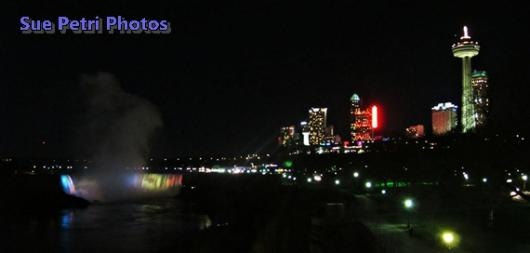 Niagara Falls by Night Light ... from 'SuePetriPhotos' on Lilyshop for $40.00