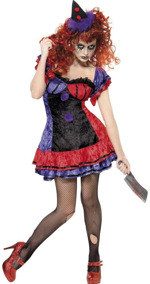 Halloween Circo Clown Corsetto S//M Carnevale Costume Di Halloween Costume
