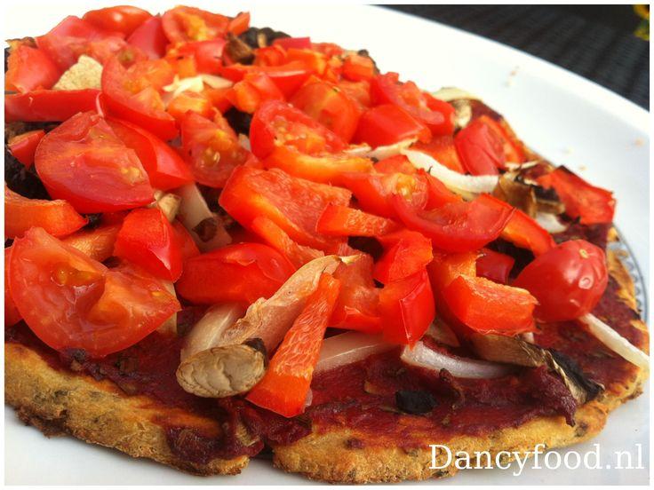 bloemkoolpizza zonder kaas