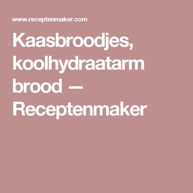 Kaasbroodjes, koolhydraatarm brood — Receptenmaker