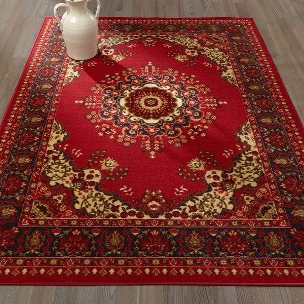 Sweet Home Traditional Medallion Red Area Rug 5 X 7