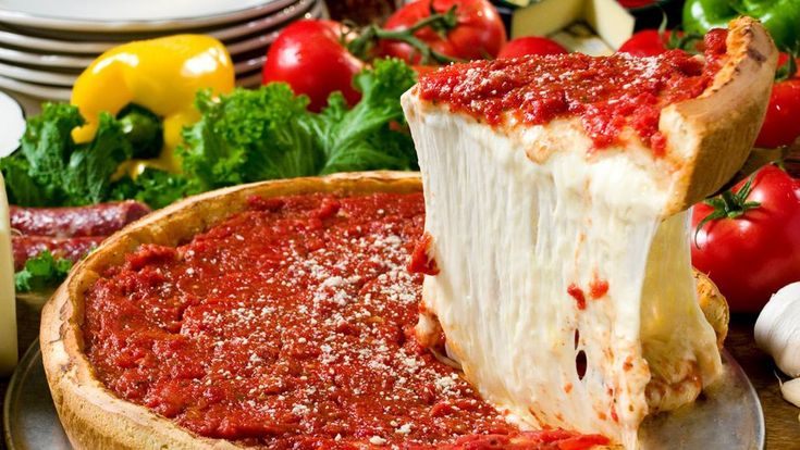 Chicago-style stuffed deep dish pizza heads west