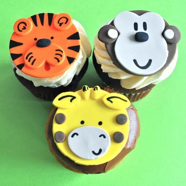 Cute animal fondant cupcake toppers!