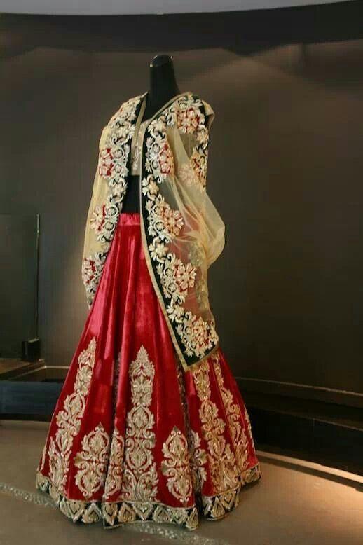 Shymal n bhumika. Red bridal lehenga. Indian bridal wear