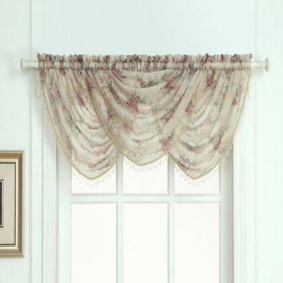 Laura Ashley Stowe Window Curtain Waterfall Valance Decor Pinterest