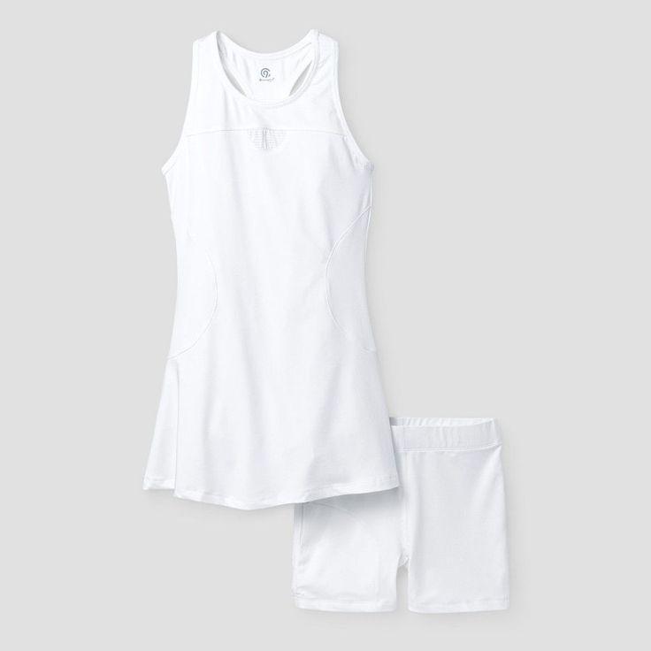Girls' Tennis Dress - C9 Champion - White L, Toddler Girl's