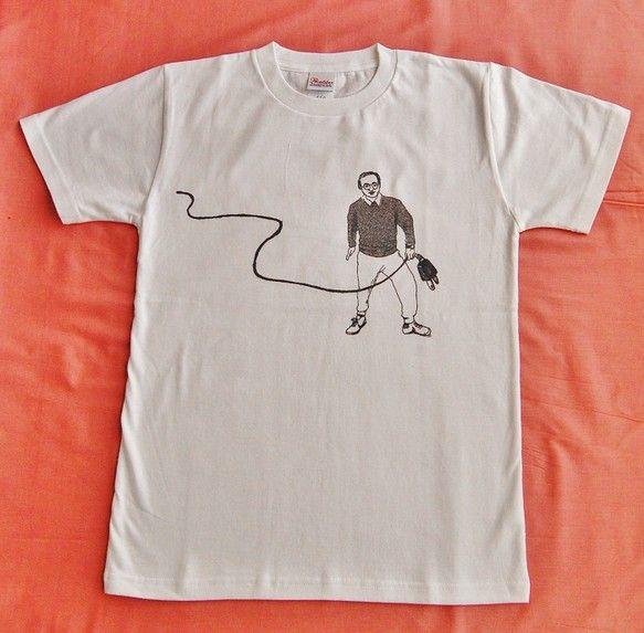 妖精のようなかわいいちいさいおっさんが見えるTシャツです。夏の勝負Tシャツにしてね。綿100%サイズ レディースM|ハンドメイド、手作り、手仕事品の通販・販売・購入ならCreema。